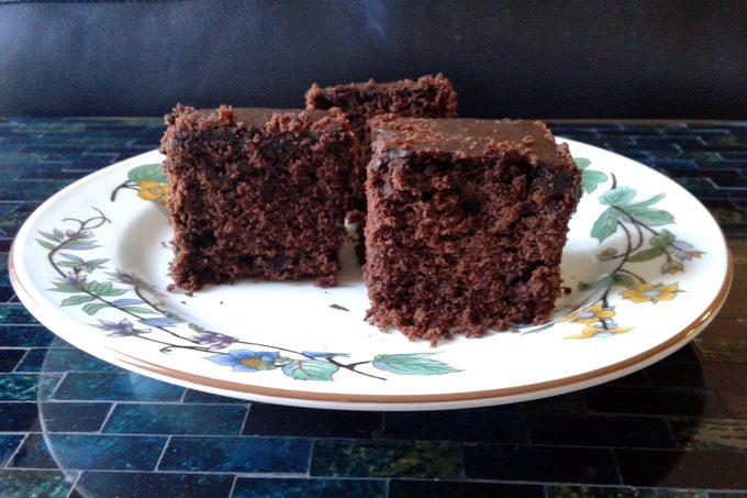 Sliced Sans Sucre brownies