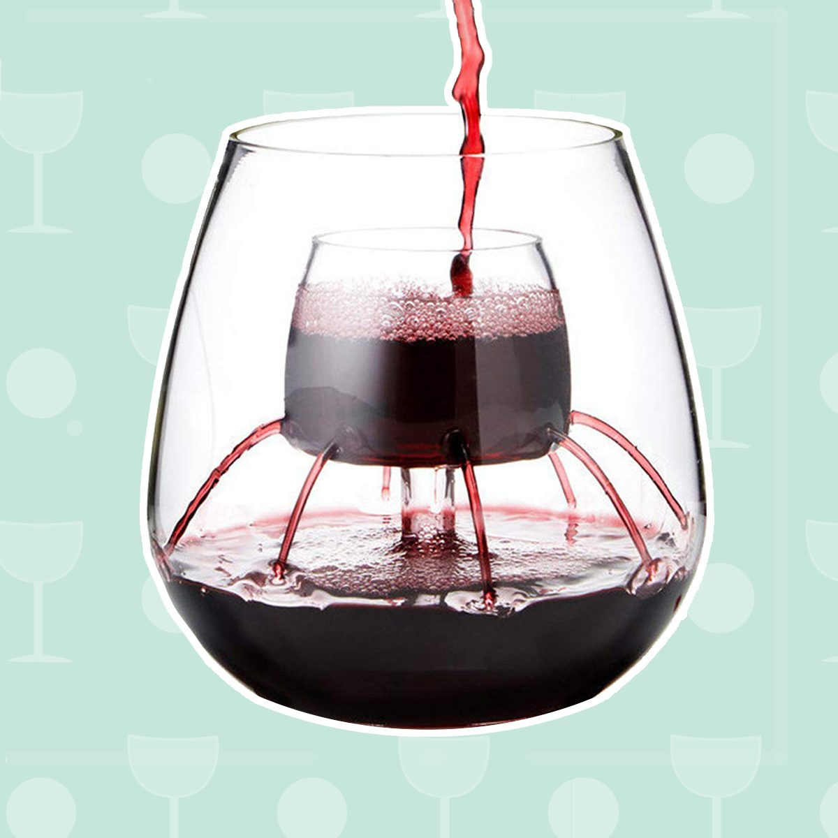 Wine gifts, Stemless Aerating Wine Glasses