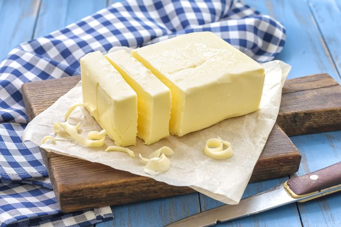 Butter cut into slices