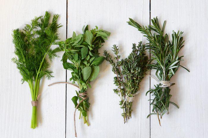 Mixed fresh herbs, Thyme,Dill, Rosemary and Oregano