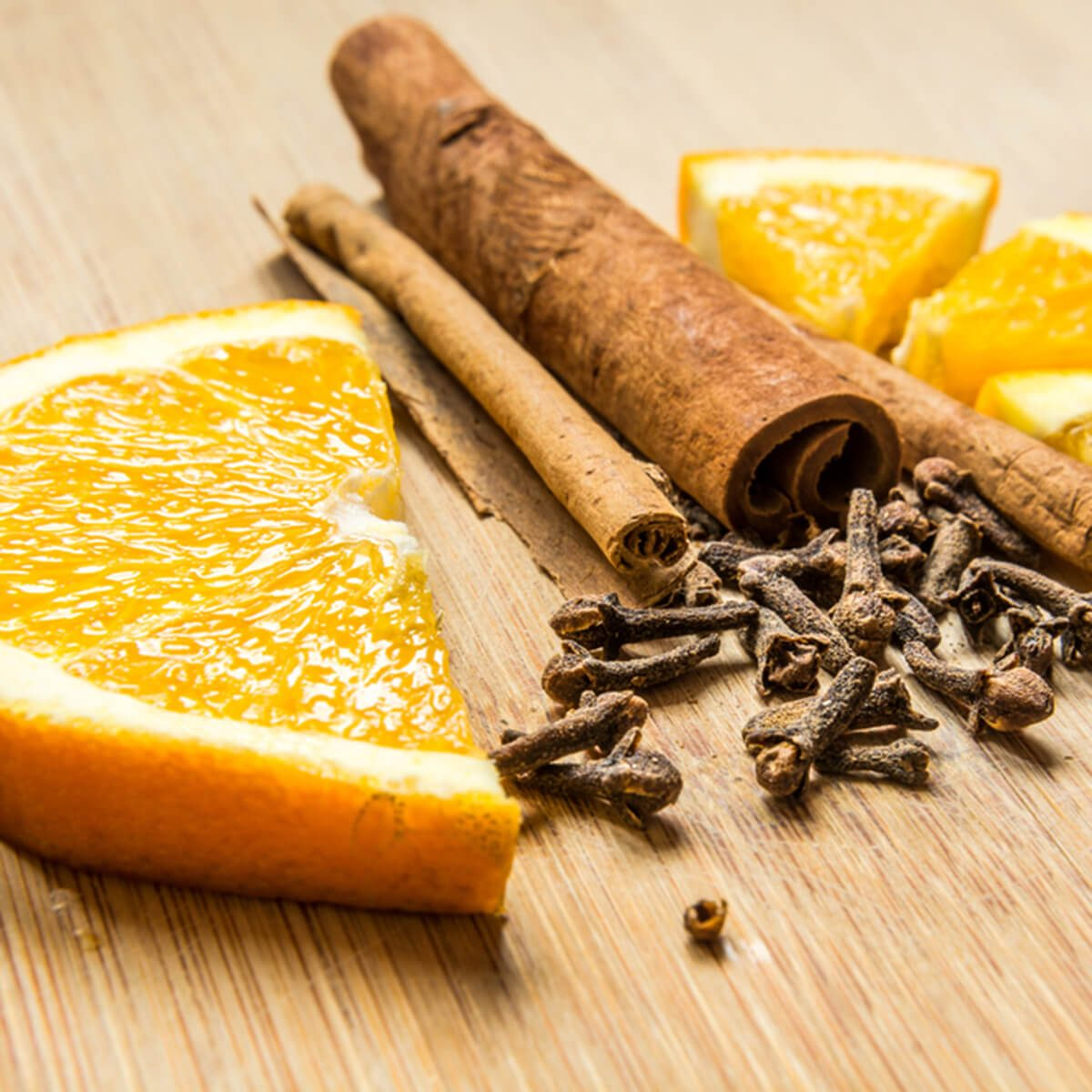 Orange slices and spices