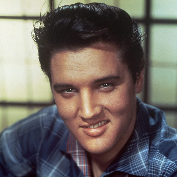 No Merchandising. Editorial Use Only Mandatory Credit: Photo by SNAP/REX/Shutterstock (390852dl) FILM STILLS OF 'JAILHOUSE ROCK' WITH 1957, ELVIS PRESLEY, SMILING, RICHARD THORPE, STUDIO, PORTRAIT, HEAD SHOT IN 1957 VARIOUS