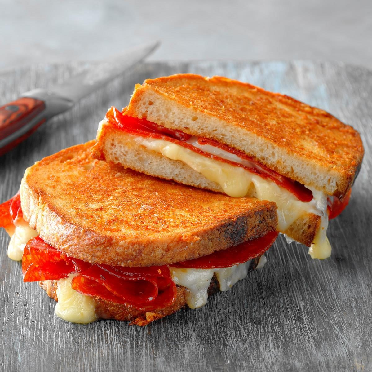 Wednesday: Grilled Cheese and Pepperoni Sandwich