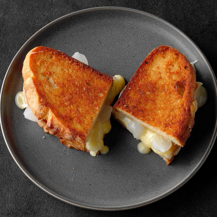 Grilled Cheese and Pickled Onion Sandwich