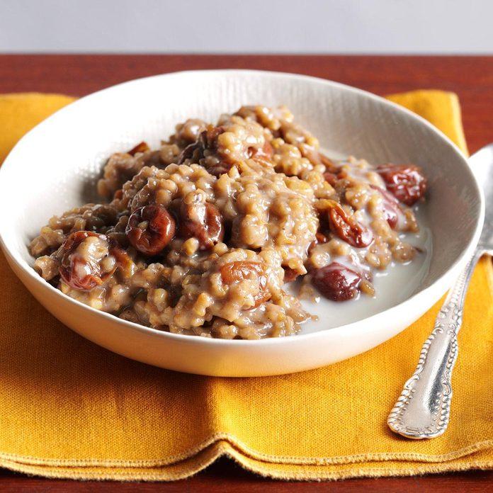 Pressure Cooker Cherry-Almond Oatmeal