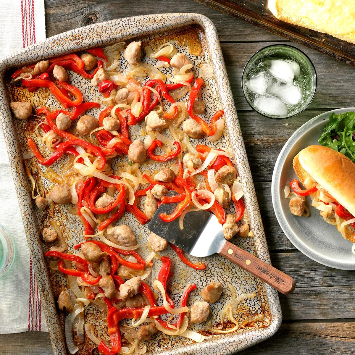 sausage and pepper sheet pan sandwiches