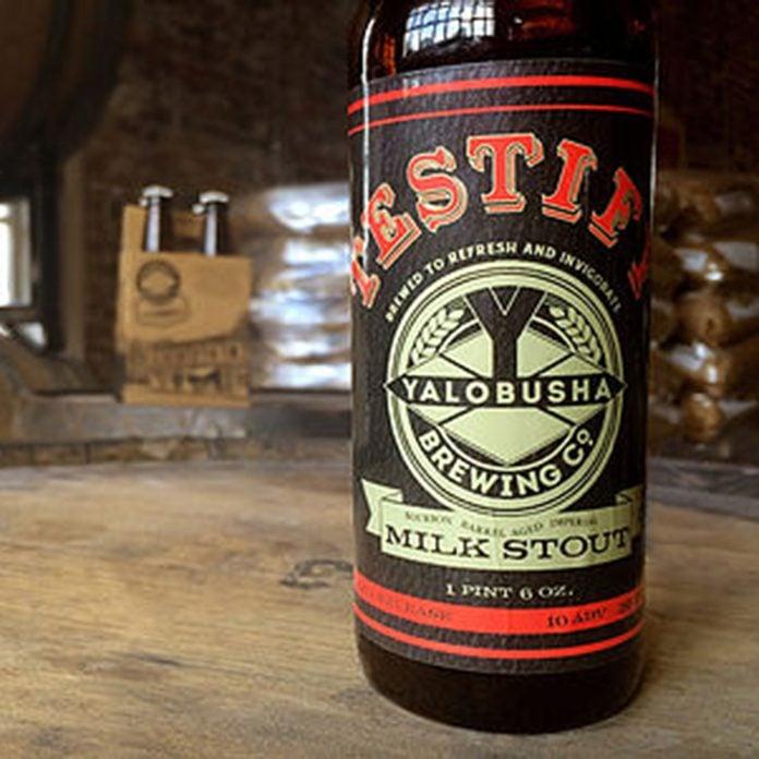 Testify Milk Stout_Yalobusha Brewing Company