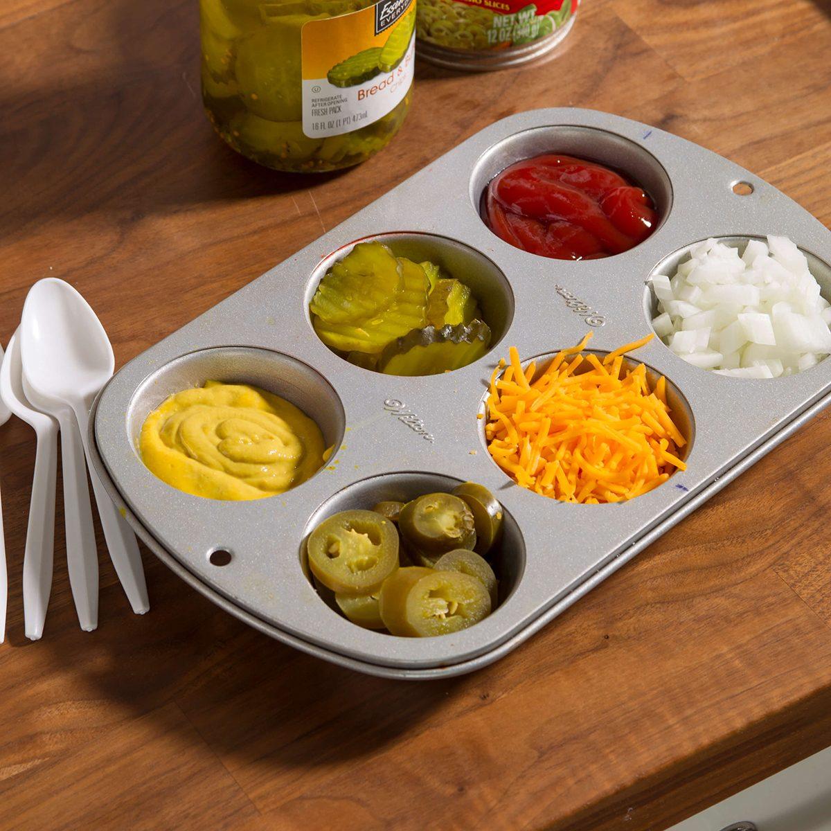condiment muffin tray