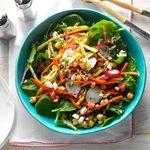 A bowl of Garden Chickpea Salad