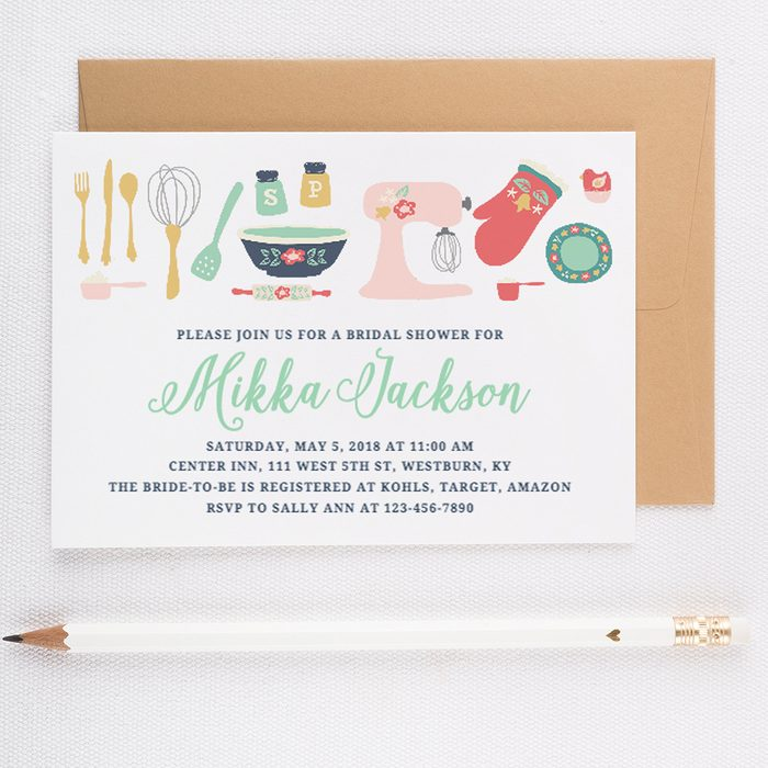 Printed Bridal Shower invitation