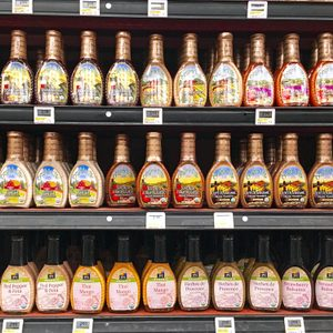 salad dressings at grocery store