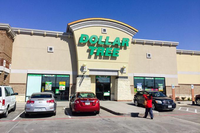 Customers enter Dollar Tree