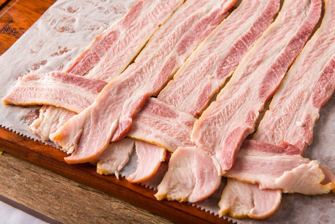making bacon weave;