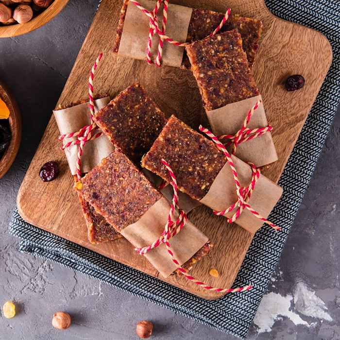 Dried fruits bars.