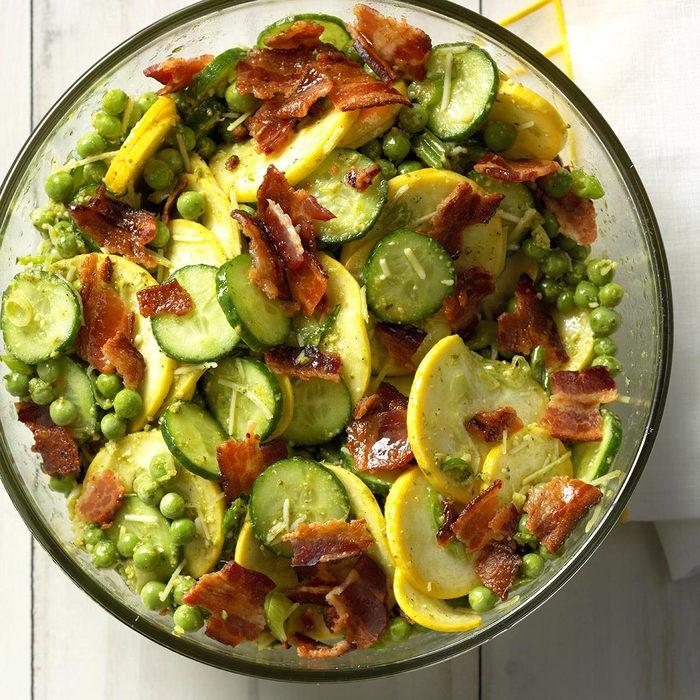 Crunchy Lemon-Pesto Garden Salad