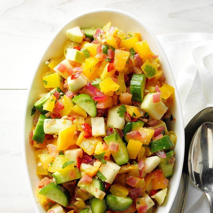 Kohlrabi Cucumber And Tomato Salad Exps Thjj18 212499 C02 01 3b 3