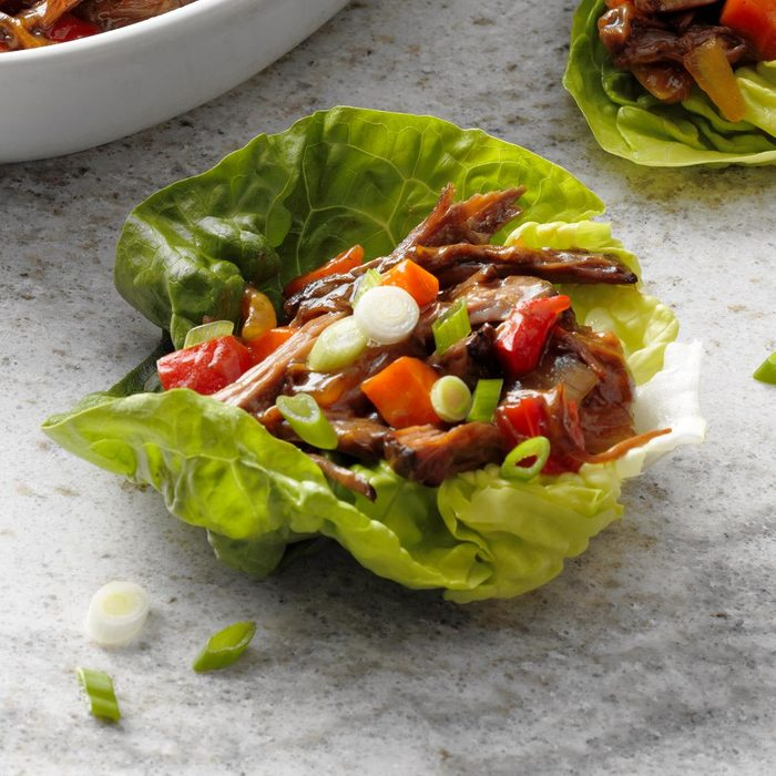 Day 2: Slow-Cooker Shredded Beef Lettuce Cups