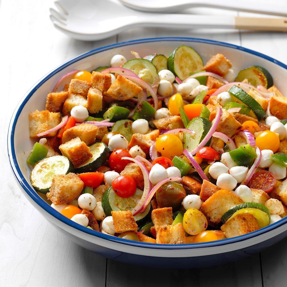 Missouri: Zucchini Panzanella Salad