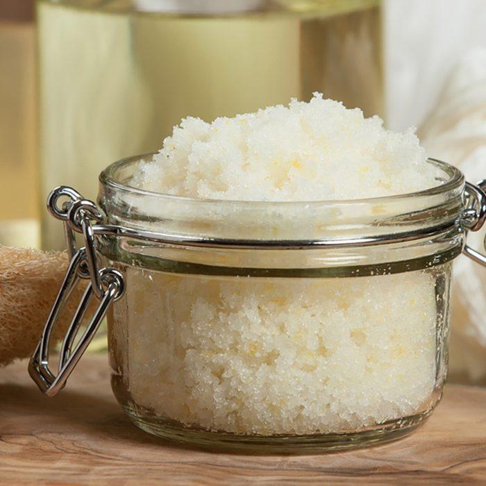 Handmade Lemon Scrub With Coconut Oil.