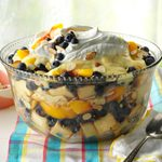 Peach & Blueberry Trifle