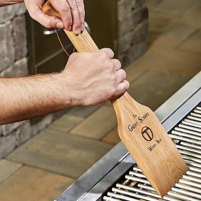 Wooden Scraper Grilling Accessory