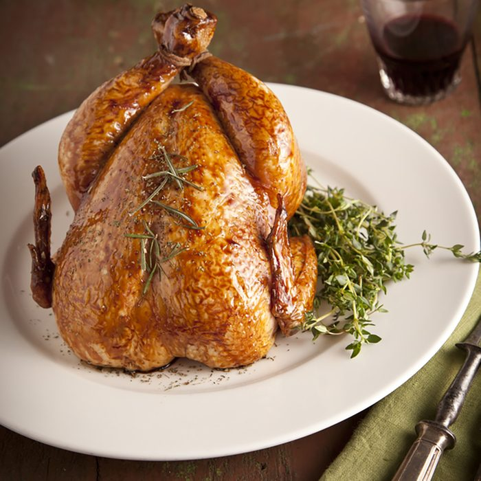 Grilled turkey and various vegetables on wooden plate for christmas and thanks giving day; Shutterstock ID 184547969; Job (TFH, TOH, RD, BNB, CWM, CM): TOH
