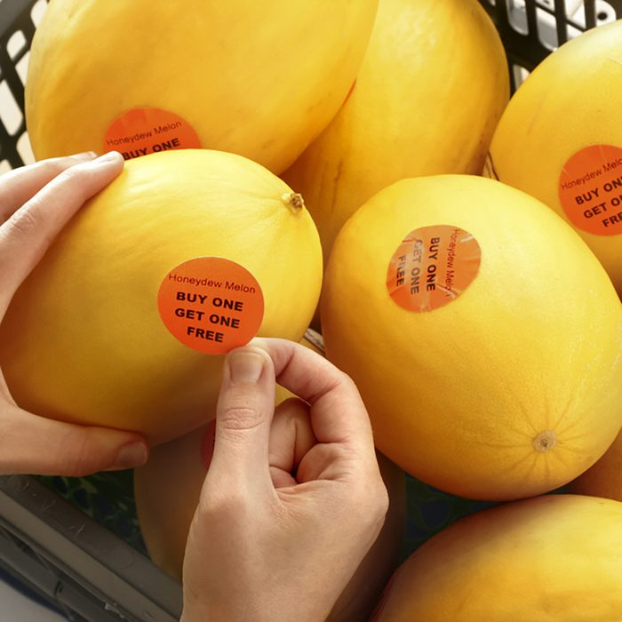 BUY ONE GET ONE FREE - Melons being labeled as Buy one get one free; Shutterstock ID 245271379; Job (TFH, TOH, RD, BNB, CWM, CM): Taste of Home