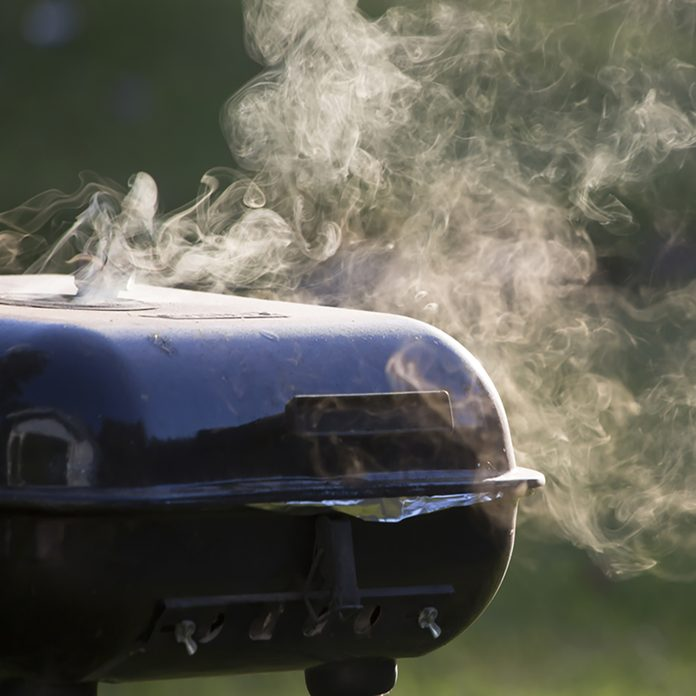 grilling safety Smoke from closed grill