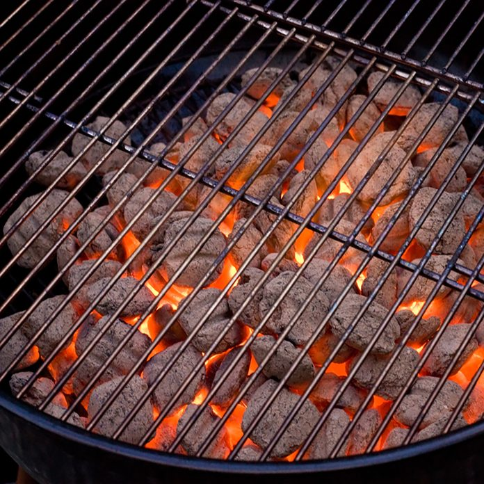 grilling safety barbecue grill and hot coal