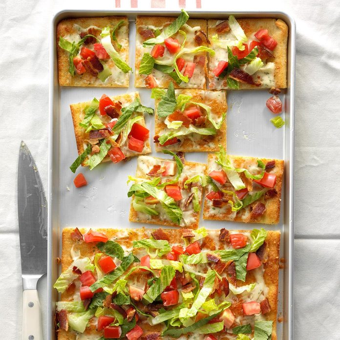 Bacon, Lettuce and Tomato Pizza