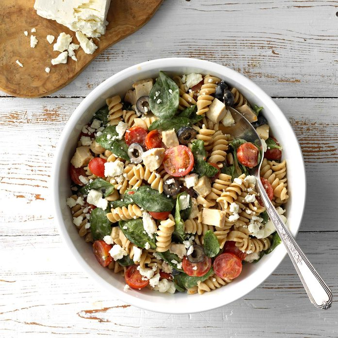 July 18: Chicken and Spinach Pasta Salad