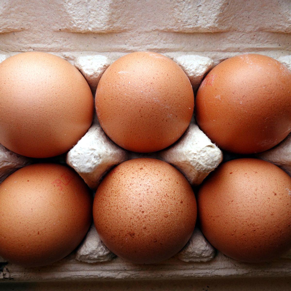 Organic eggs in a box