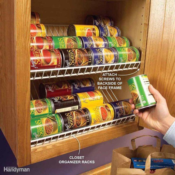 organizing can rack
