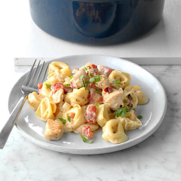 Sue's Spicy Tomato Basil Tortellini