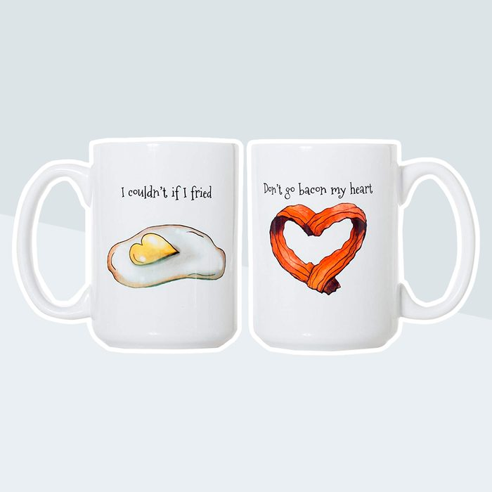 breakfast mugs, bacon