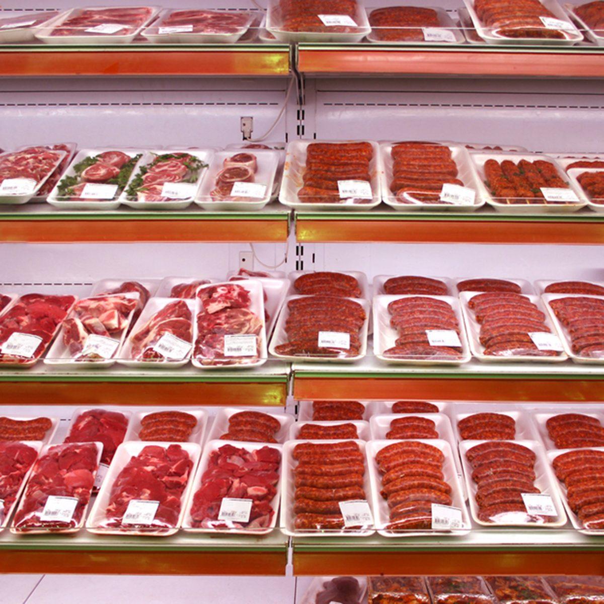 meat in shop
