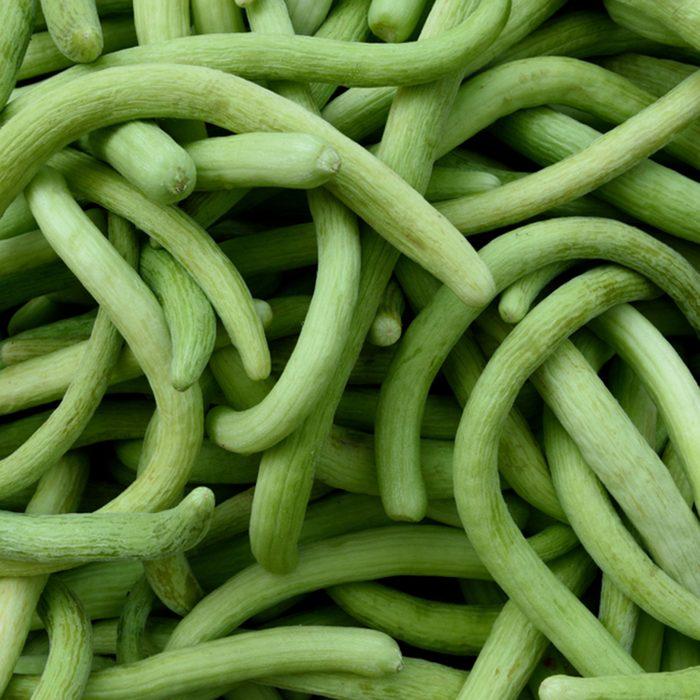 Fresh Armenian Cucumbers or Kakdi, in a local farmers produce market in Jaipur, India.; Shutterstock ID 1047359233; Job (TFH, TOH, RD, BNB, CWM, CM): Taste of Home