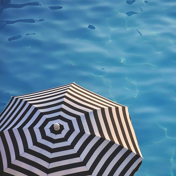 beach umbrella near the water
