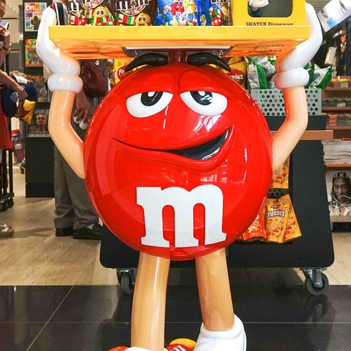 Red M&M mascot