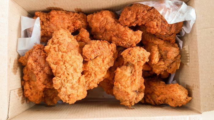crispy kentucky fried chicken in delivery box; Shutterstock ID 520816927 Phawat