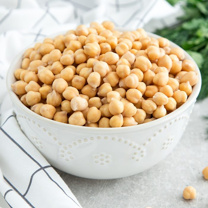 Cooked Chickpeas on a bowl. Chickpeas is nutritious food.