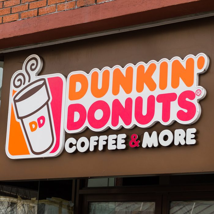 LONDON, ENGLAND - MARCH 1st, 2017: Dunkin Donuts, shop sign, Harrow, London, UK.; Shutterstock ID 598971959; Job (TFH, TOH, RD, BNB, CWM, CM): -