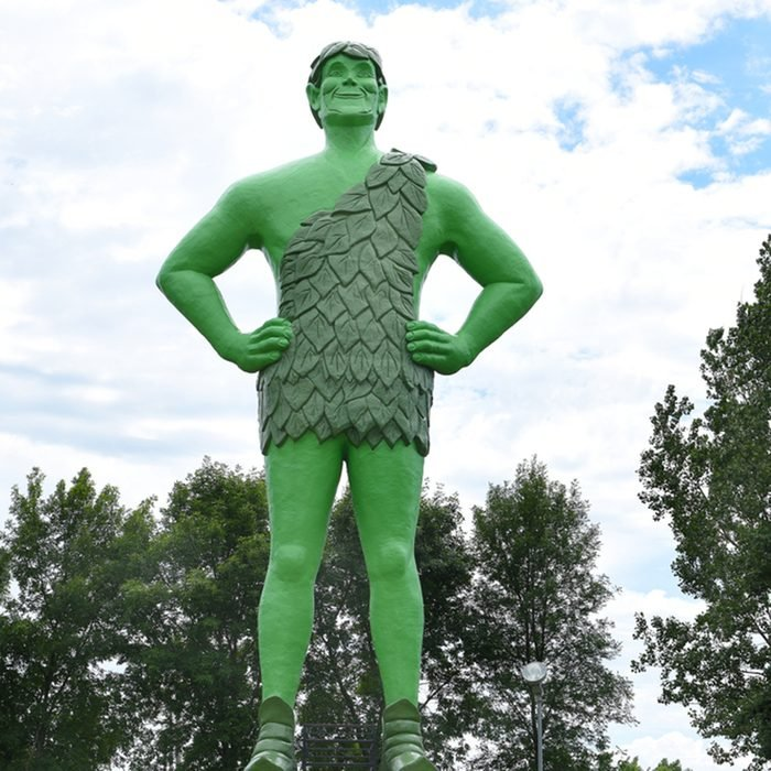 Jolly Green Giant Statue.