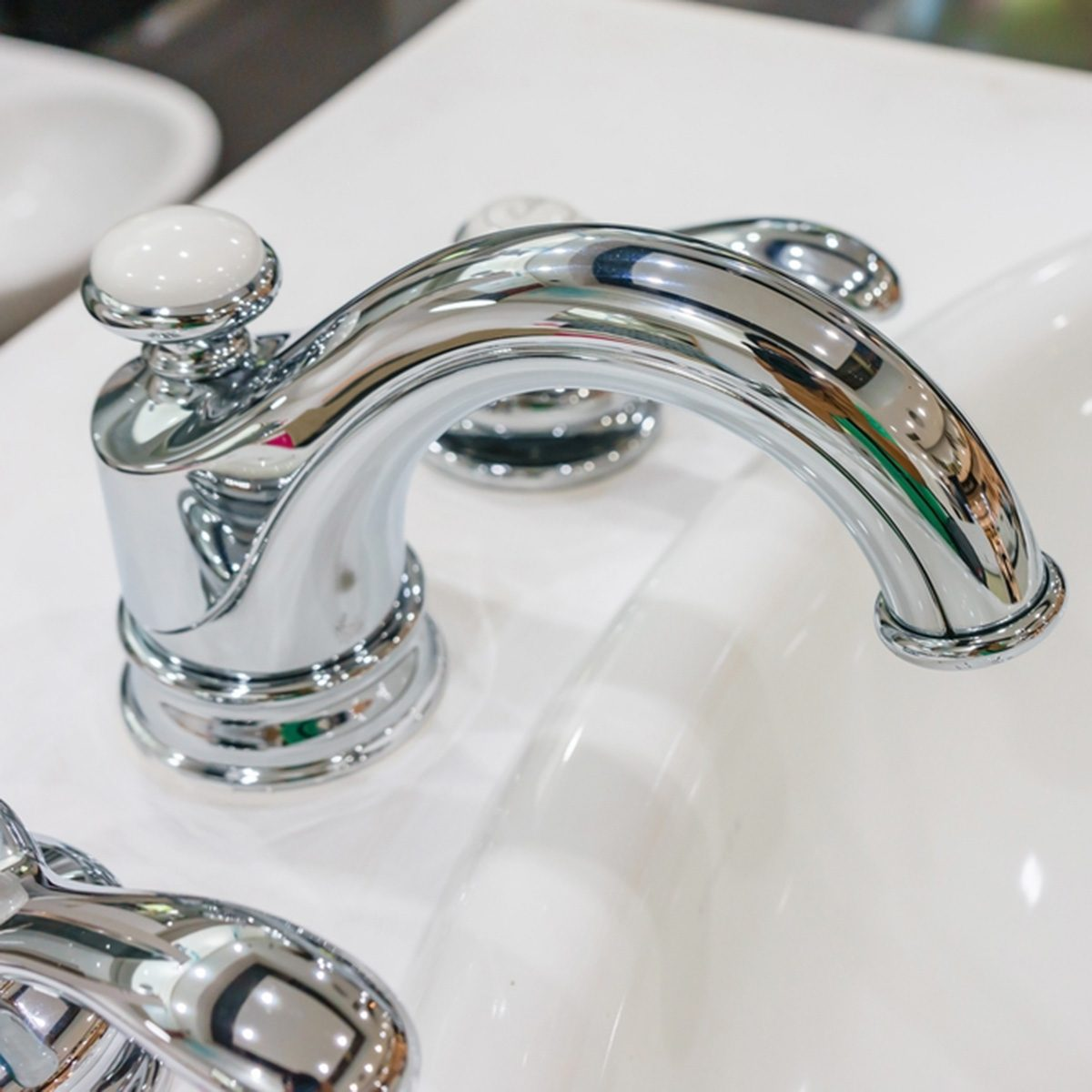 Chrome bathroom faucet. Bathroom water tap. Modern faucet. Bathroom interior. Modern design. Luxury faucet. Modern water tap. Chrome faucet; Shutterstock ID 714816445; Job (TFH, TOH, RD, BNB, CWM, CM): Taste of Home