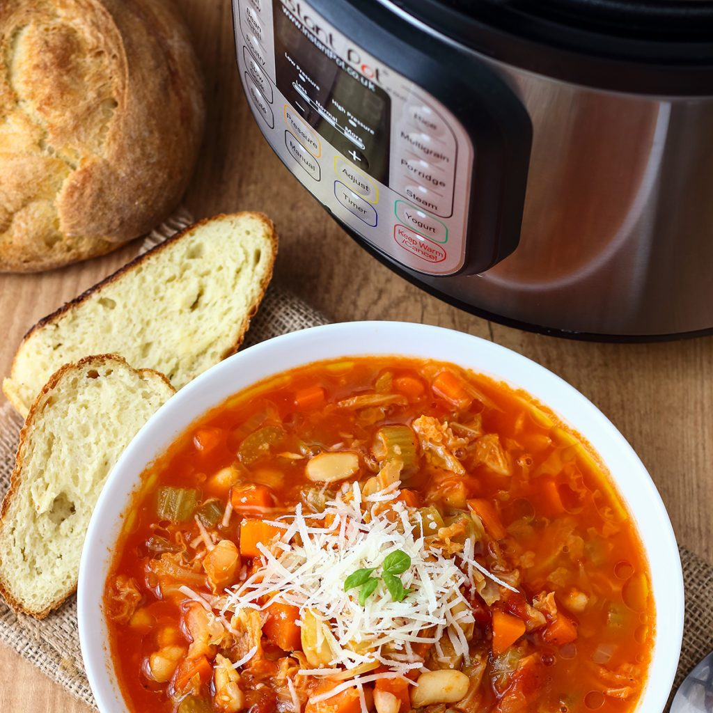 Minestrone Soup made in Instant Pot Pressure Cooker; Shutterstock ID 774916357