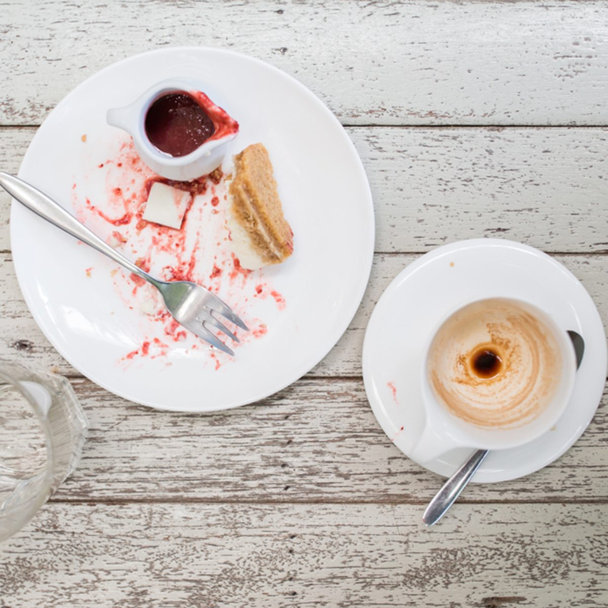 cheesecake and coffee. Can not finish the plate