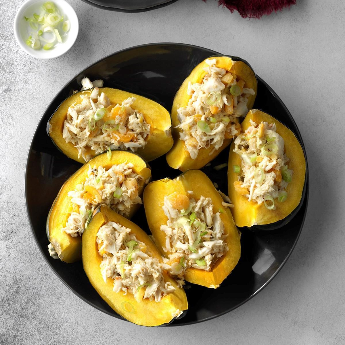 Day 21: Apricot Crab Stuffed Acorn Squash