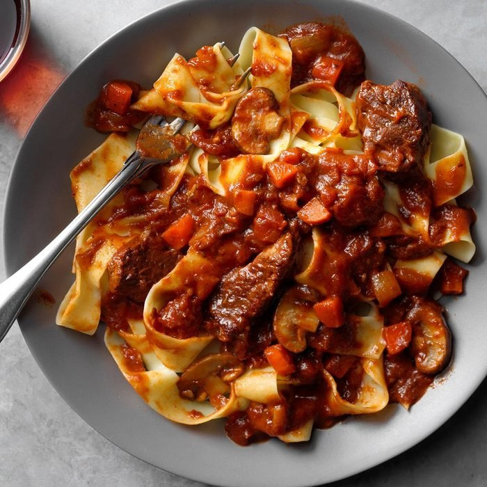 Slow-Cooker Short Rib Ragu over Pappardelle
