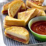 Garlic Bread Pizza Sandwiches