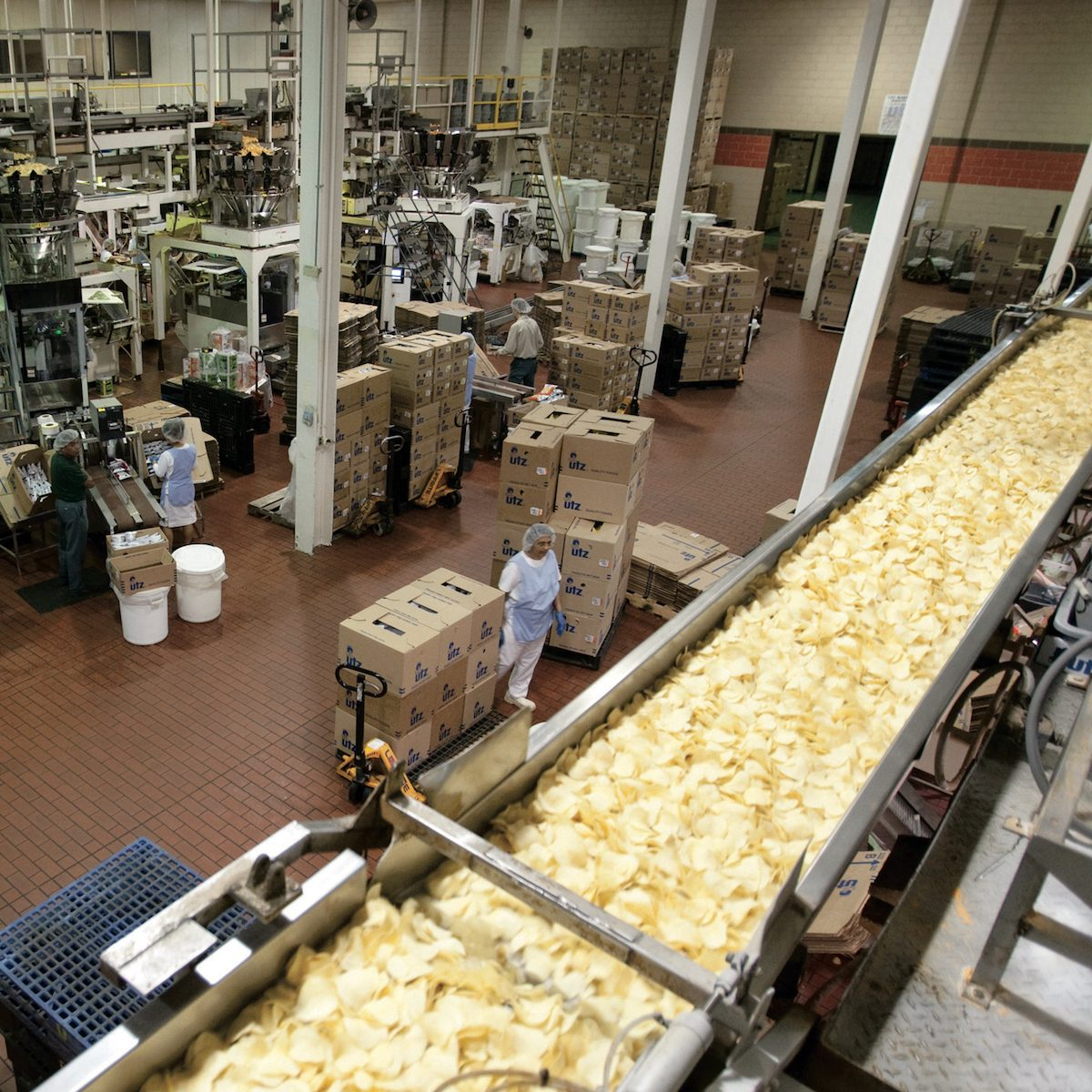 Chip production line